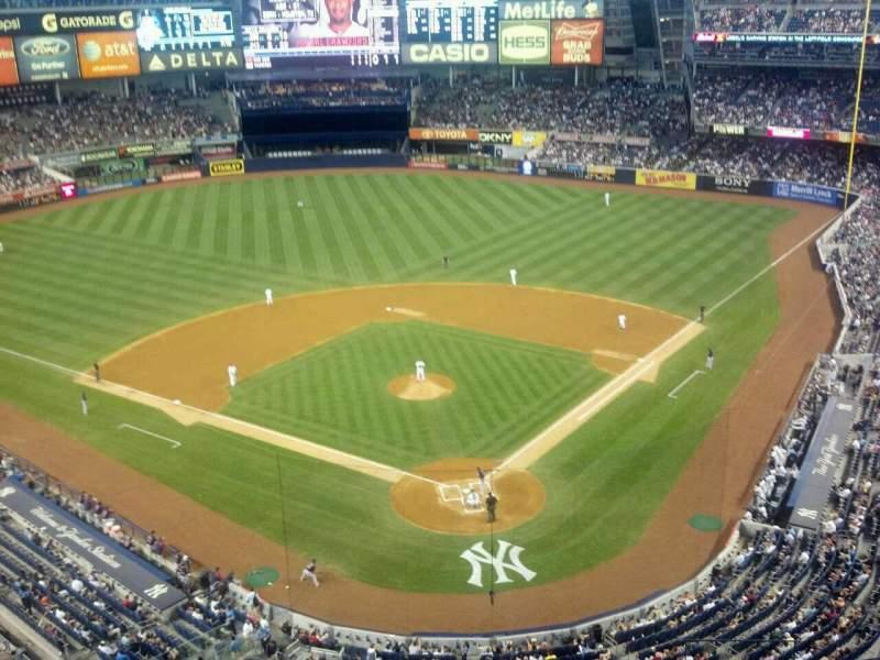 Vista sentada para Yankee Stadium Secção 420C Fila 1 Lugar 6