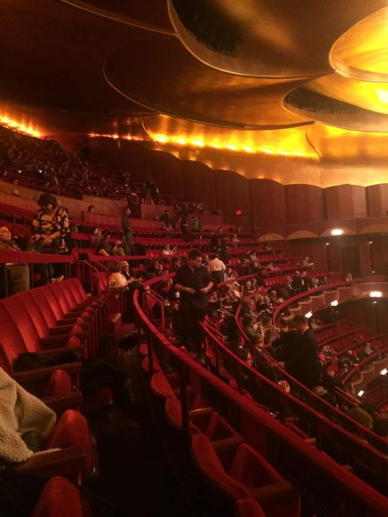 Vista sentada para Metropolitan Opera House - Lincoln Center Secção Balcony Fila D Lugar 28