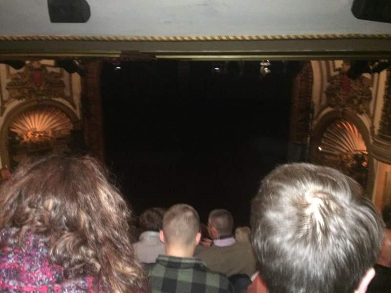 Vista sentada para Palace Theatre (Broadway) Secção Rear Center Mez Fila M Lugar 124