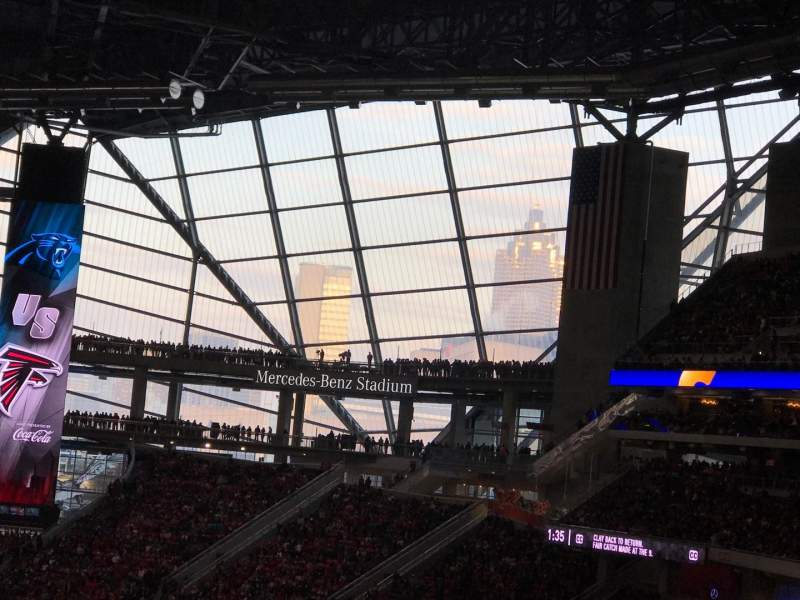 Vista sentada para Mercedes-Benz Stadium Secção 213 Fila 10 Lugar 9