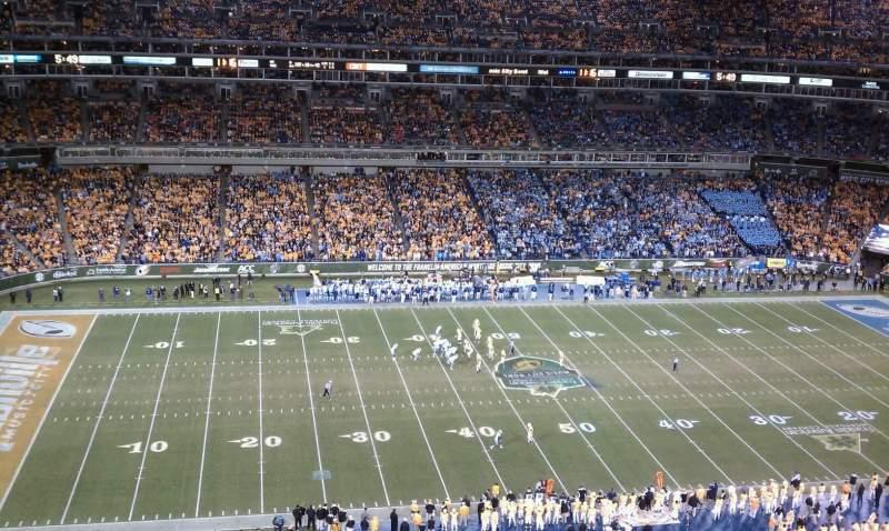 Vista sentada para Nissan Stadium Secção 236 Fila D Lugar 12
