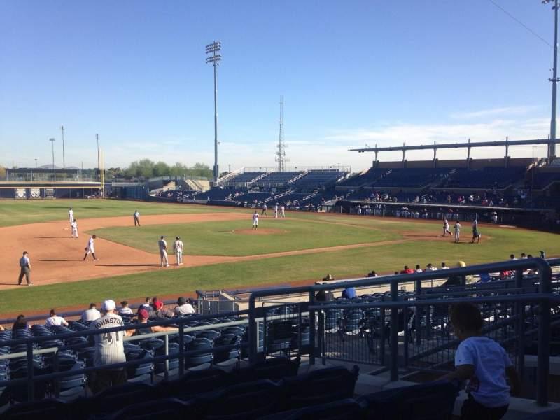 Vista sentada para Peoria Sports Complex Secção 213 Fila FF Lugar 6