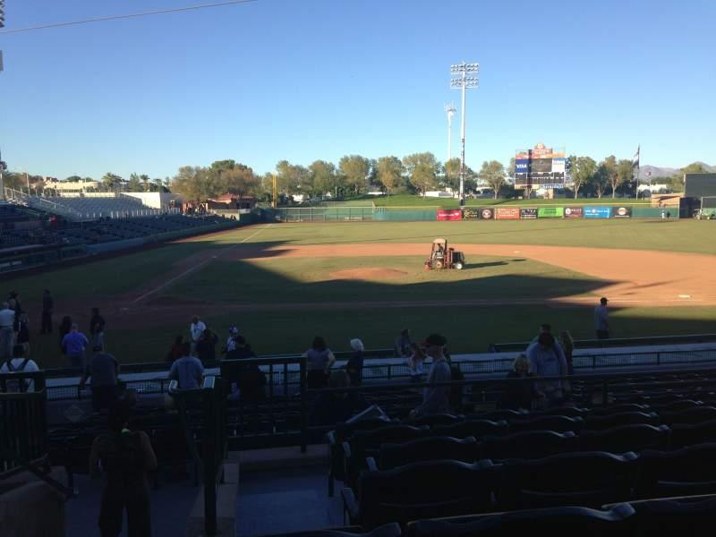 Vista sentada para Scottsdale Stadium Secção 310 Fila 1 Lugar 1