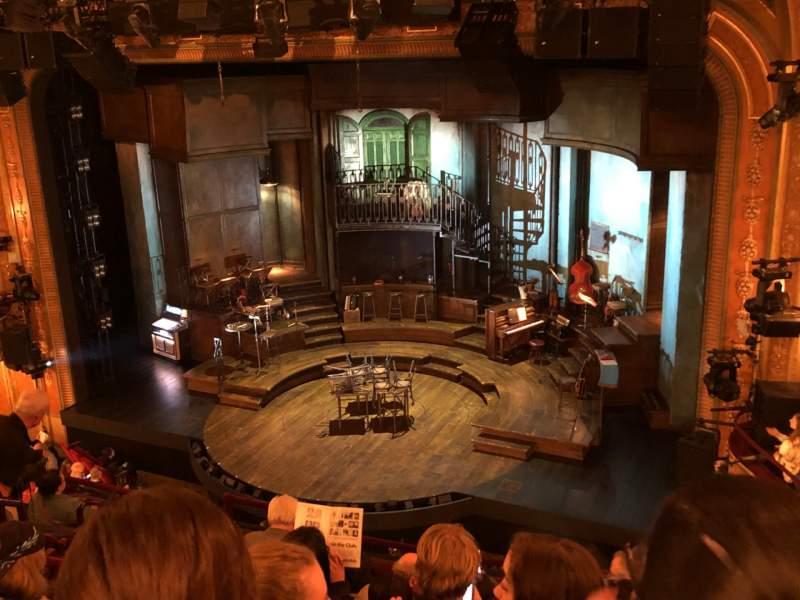 Vista sentada para Walter Kerr Theatre Secção Mezzanine R Fila H Lugar 14