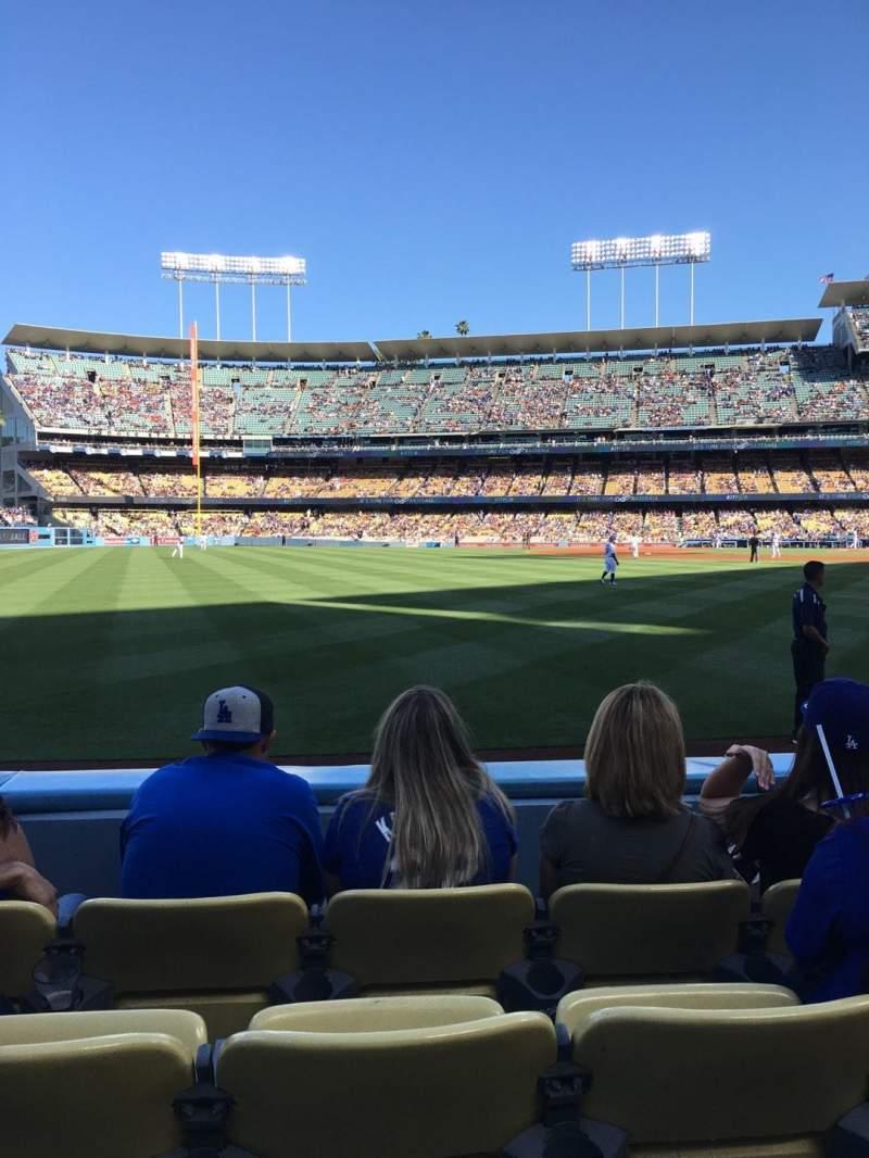 Vista sentada para Dodger Stadium Secção 51FD Fila C Lugar 11