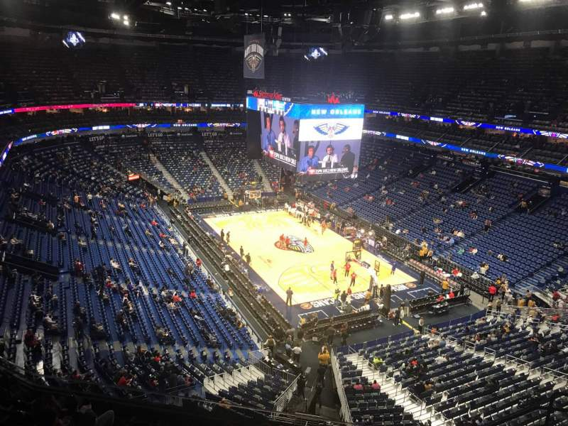 Vista sentada para Smoothie King Center Secção 327 Fila 9 Lugar 6