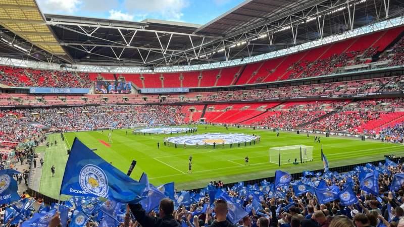 Vista sentada para Wembley Stadium Secção 136 Fila 37 Lugar 81