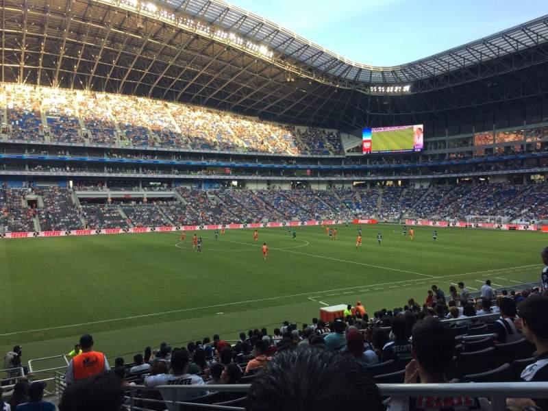 Vista sentada para Estadio BBVA Secção 101 Fila P Lugar 1
