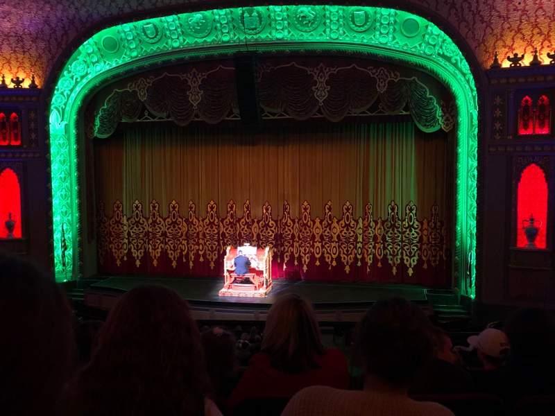 Vista sentada para Tennessee Theatre Secção Balcony Right Center Fila EE Lugar 14