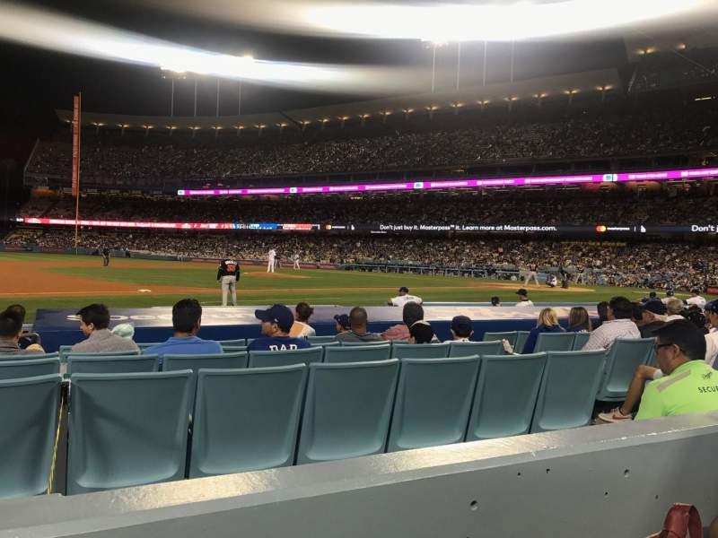 Vista sentada para Dodger Stadium Secção 25FD Fila B Lugar 8