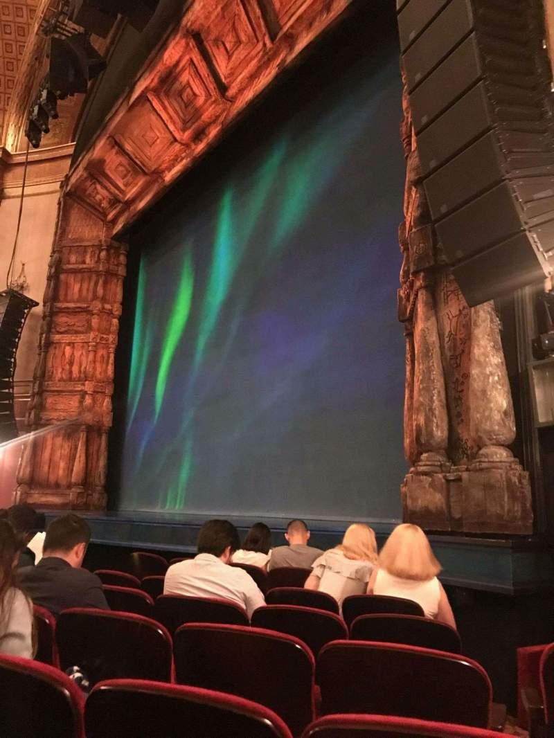 Vista sentada para St. James Theatre Secção Orchestra R Fila F Lugar 20