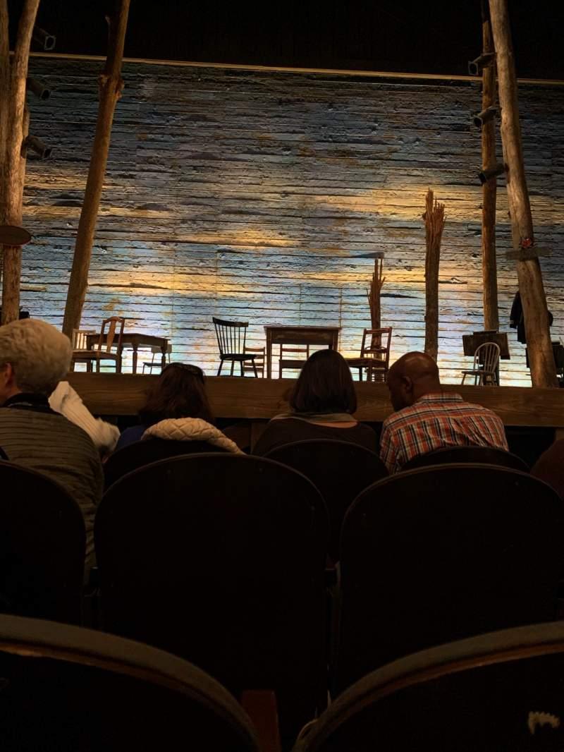Vista sentada para Gerald Schoenfeld Theatre Secção Orchestra C Fila C Lugar 107