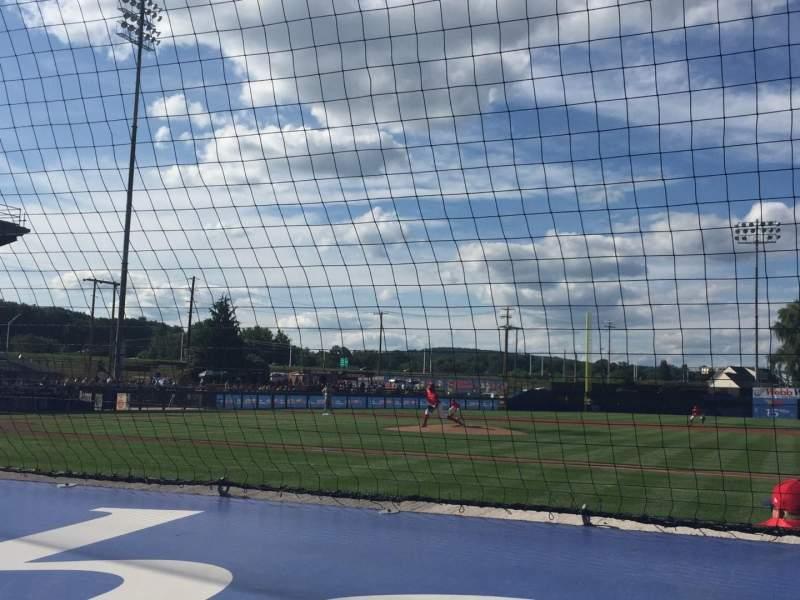 Vista sentada para BB&T Ballpark at Historic Bowman Field Secção A Fila F Lugar 4