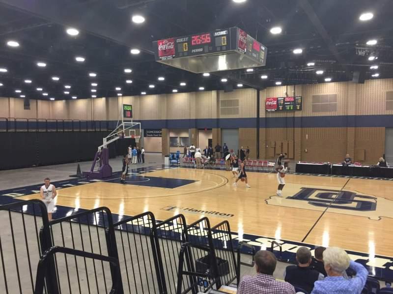 Vista sentada para Mashburn Arena Secção 6 Fila JJ Lugar 11