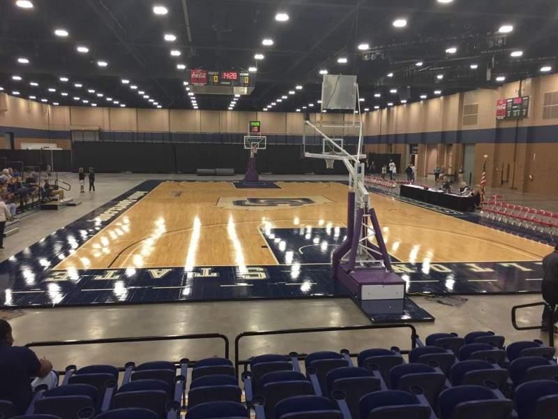 Vista sentada para Mashburn Arena Secção 2 Fila HH Lugar 7