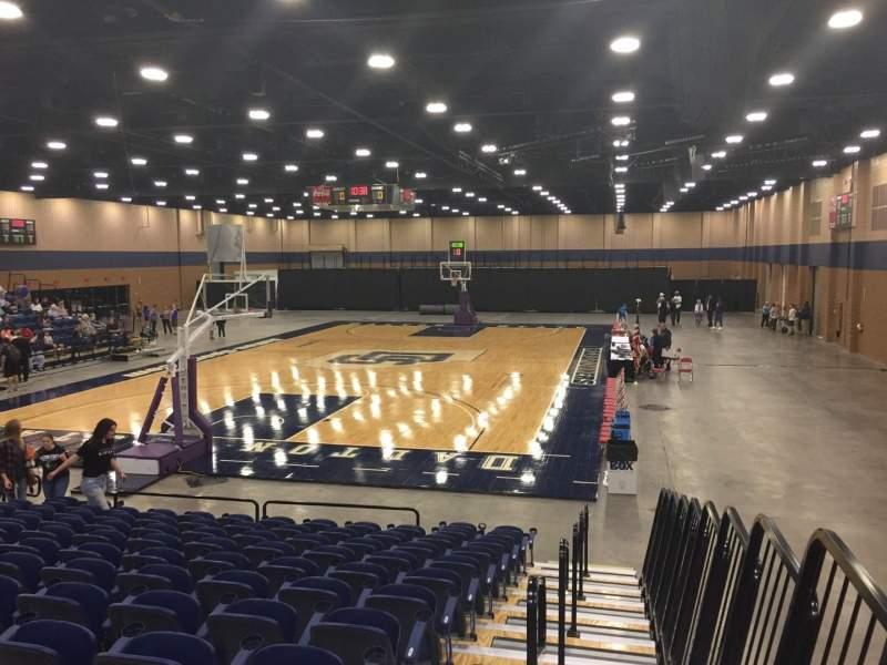 Vista sentada para Mashburn Arena Secção 1 Fila NN Lugar 1