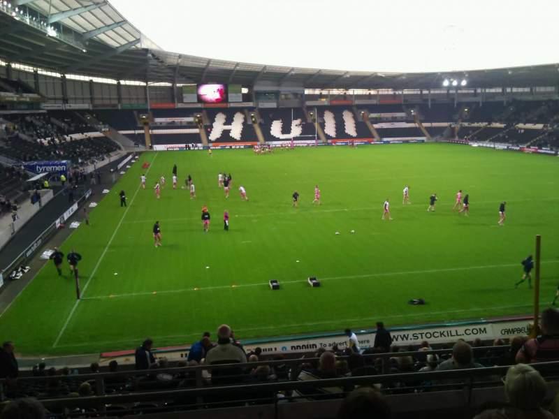 Vista sentada para KCOM Stadium Secção south