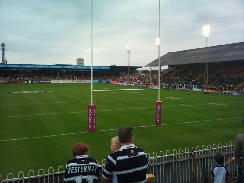 Vista sentada para The Jungle, Castleford