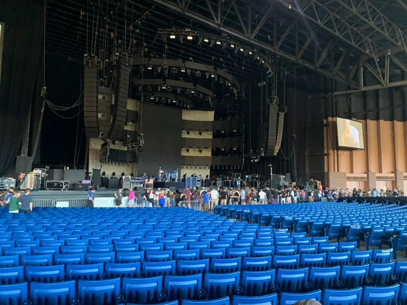 Vista sentada para Sunlight Supply Amphitheater Secção 103 Fila CC Lugar 11