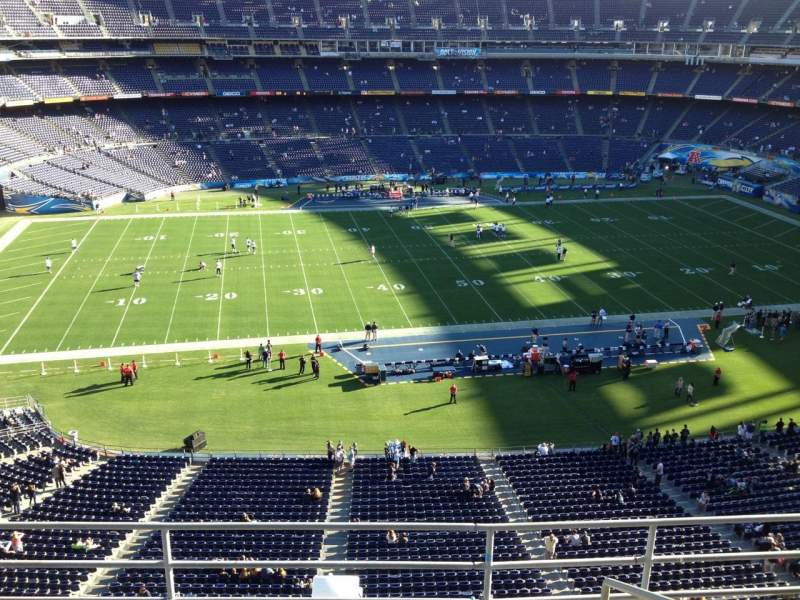 Vista sentada para San Diego Stadium Secção V3 Fila 5 Lugar 7