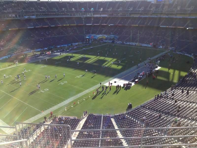 Vista sentada para San Diego Stadium Secção V59 Fila 5 Lugar 6
