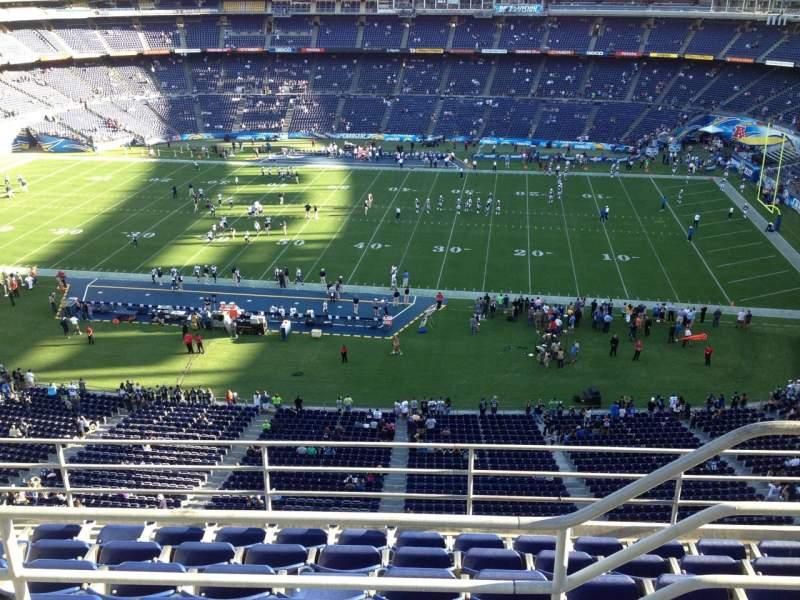 Vista sentada para San Diego Stadium Secção V8 Fila 6 Lugar 19