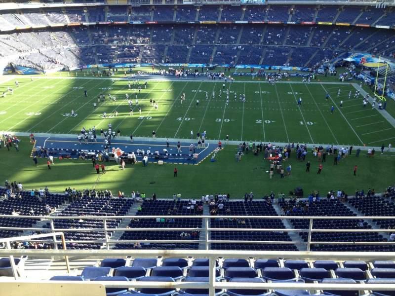 Vista sentada para San Diego Stadium Secção V8 Fila 6 Lugar 16
