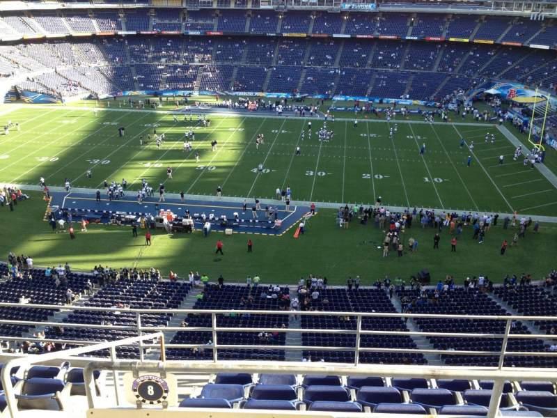 Vista sentada para San Diego Stadium Secção V8 Fila 6 Lugar 13
