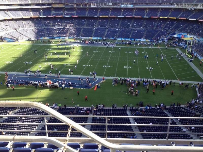 Vista sentada para San Diego Stadium Secção V9 Fila 5 Lugar 1