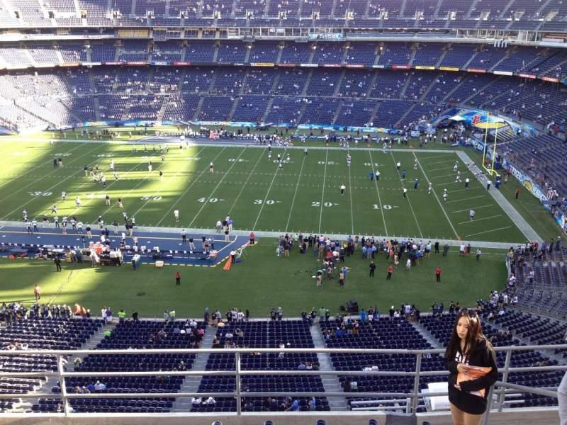 Vista sentada para San Diego Stadium Secção V9 Fila 5 Lugar 6