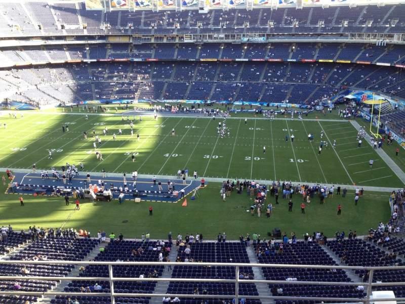 Vista sentada para San Diego Stadium Secção V9 Fila 5 Lugar 4