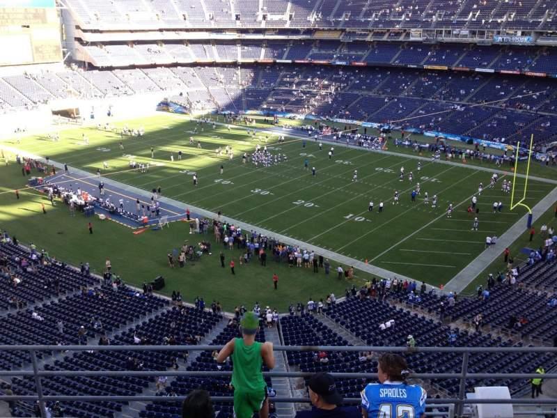 Vista sentada para San Diego Stadium Secção V13 Fila 5a Lugar 1