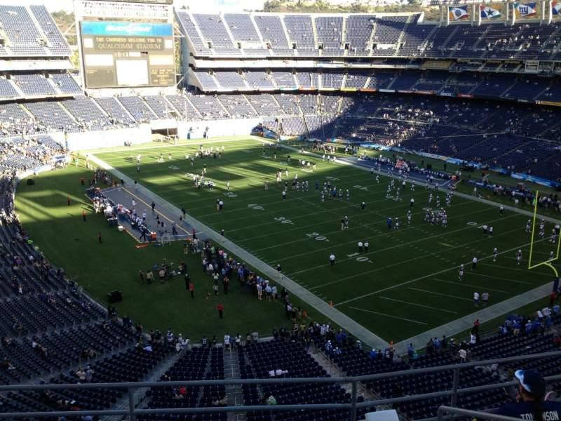 Vista sentada para San Diego Stadium Secção V15 Fila 5 Lugar 5