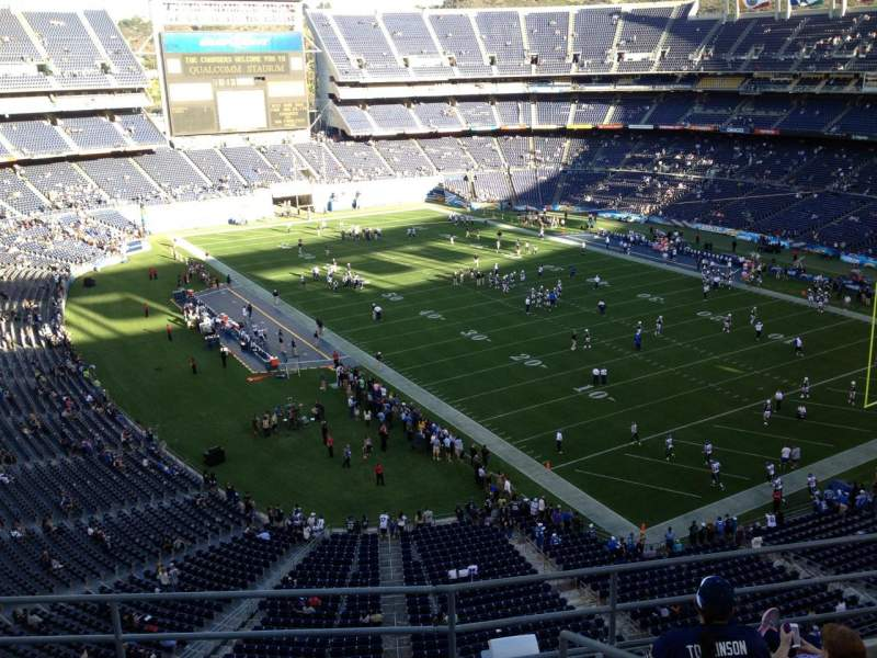 Vista sentada para San Diego Stadium Secção V15 Fila 5 Lugar 6