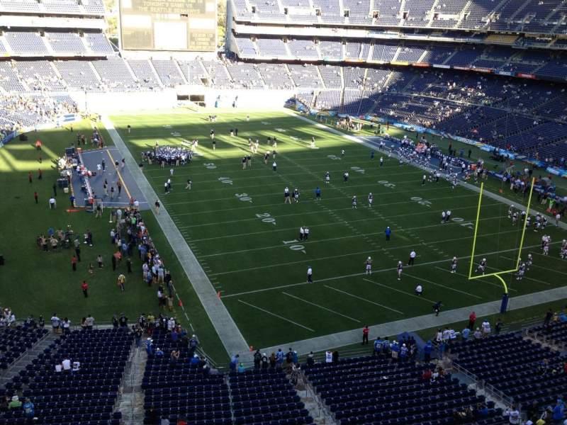 Vista sentada para San Diego Stadium Secção V18 Fila 1 Lugar 19