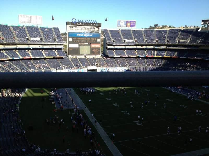 Vista sentada para San Diego Stadium Secção V18 Fila 1 Lugar 18