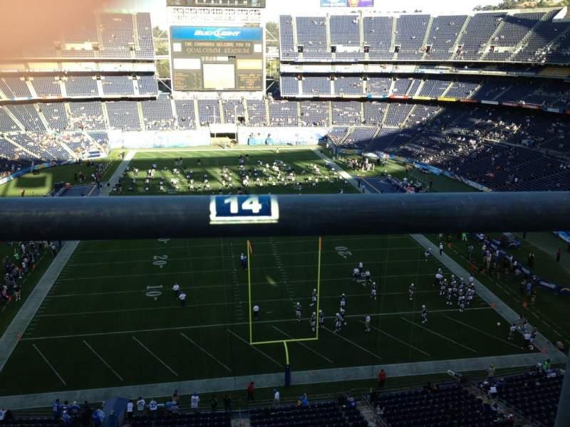 Vista sentada para San Diego Stadium Secção V20 Fila 5a Lugar 14