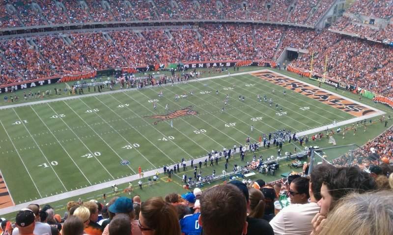 Vista sentada para Paul Brown Stadium Secção 344 Fila 14 Lugar 1