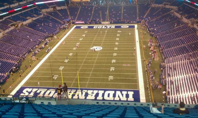 Vista sentada para Lucas Oil Stadium Secção 625 Fila 18 Lugar 18