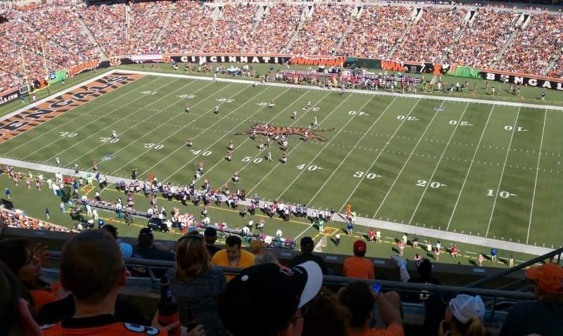 Vista sentada para Paul Brown Stadium Secção 307 Fila 2 Lugar 4