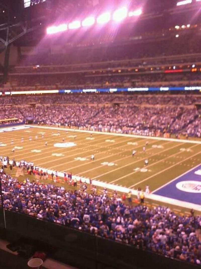 Vista sentada para Lucas Oil Stadium Secção 208