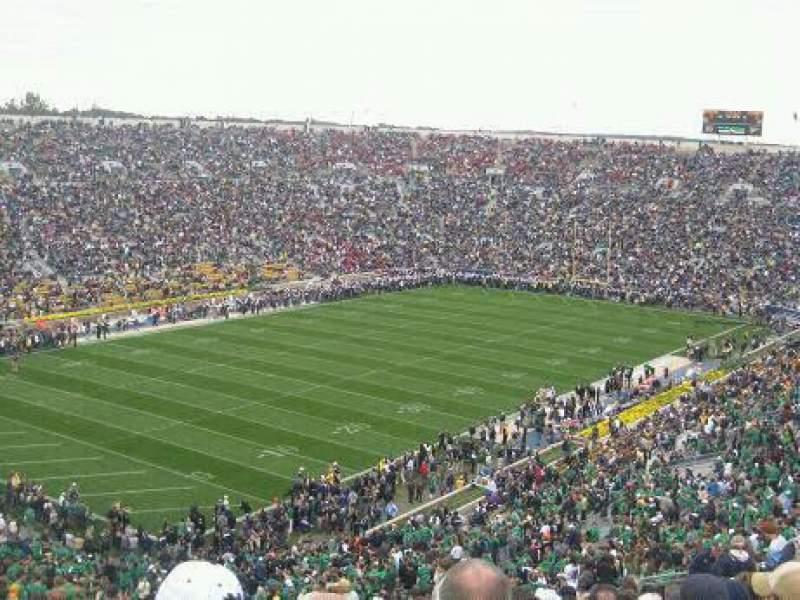 Vista sentada para Notre Dame Stadium Secção 133 Fila 25 Lugar 9