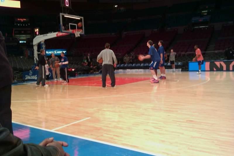 Vista sentada para Madison Square Garden Secção 10 Fila 2 Lugar 5