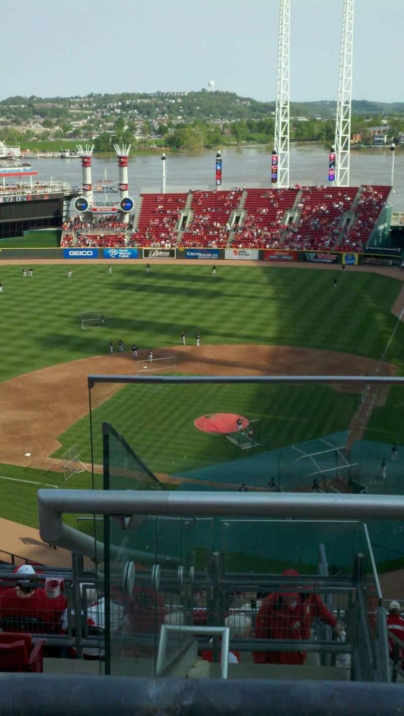 Vista sentada para Great American Ball Park Secção 522 Fila E Lugar 2