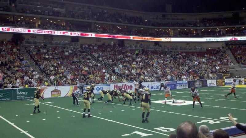Vista sentada para Wells Fargo Arena Secção 118 Fila e Lugar 2