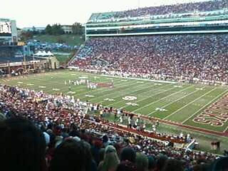 Vista sentada para Razorback Stadium Secção 101 Fila 49 Lugar 28
