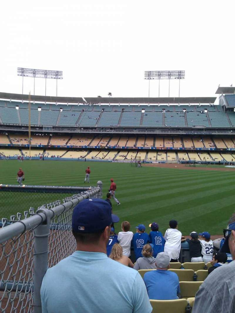 Vista sentada para Dodger Stadium Secção 53FD