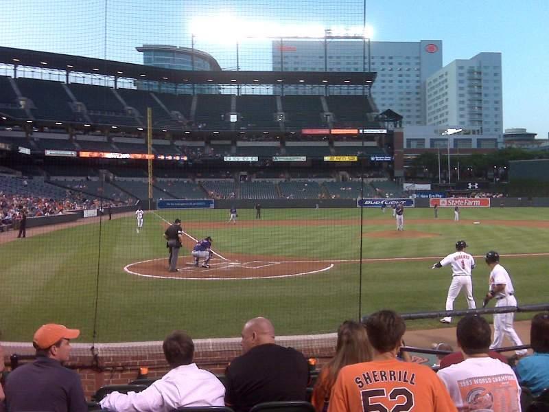 Vista sentada para Oriole Park at Camden Yards Secção 30 Fila DD Lugar 3