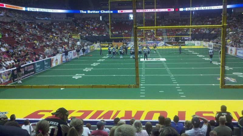 Vista sentada para Wells Fargo Arena Secção 110 Fila l Lugar 10