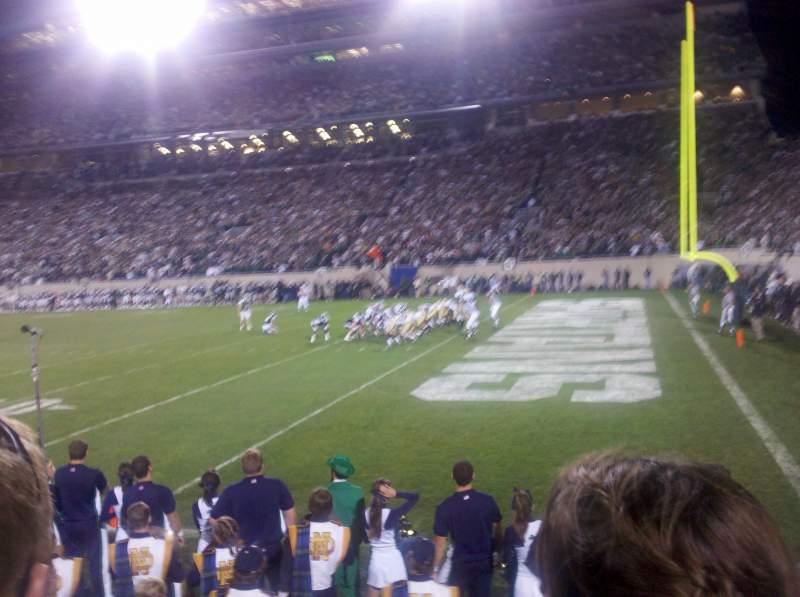 Vista sentada para Spartan Stadium Secção 5 Fila 2 Lugar 5
